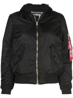 Alpha Industries куртка-бомбер с капюшоном