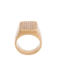 Balenciaga кольцо-печатка