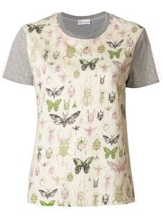 RedValentino футболка с принтом насекомых