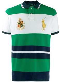 Polo Ralph Lauren рубашка-поло в стиле колор-блок с логотипом