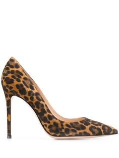 Gianvito Rossi туфли-лодочки Gianvito с леопардовым принтом