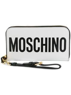 Moschino zip-around logo wallet