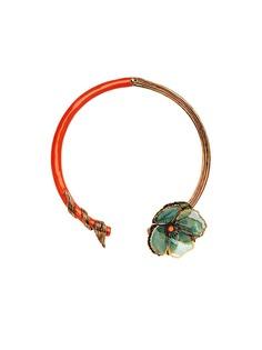 Fendi чокер с цветочным декором