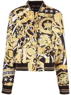Versace куртка-бомбер Savage с принтом Barocco