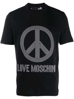 Love Moschino футболка Peace and Love