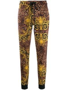 Versace Jeans Couture спортивные брюки с леопардовым принтом