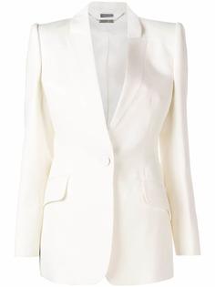 Alexander McQueen пиджак-смокинг кроя слим