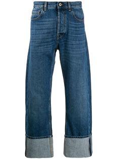 Valentino джинсы прямого кроя с подворотами