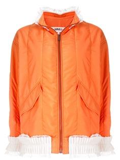 Mm6 Maison Margiela приталенная куртка с кружевной отделкой