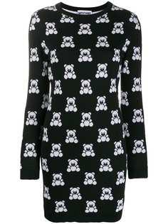 Moschino платье-толстовка Teddy Bear