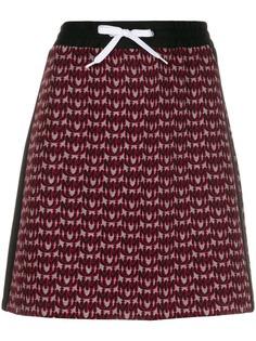 Miu Miu трикотажная юбка с монограммой