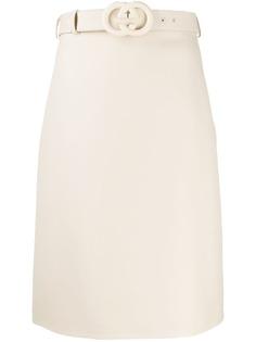 Gucci юбка с завышенной талией и поясом