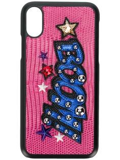 Dolce & Gabbana чехол для iPhone X с заплаткой Boom!