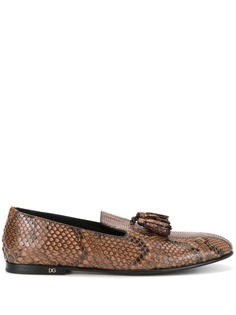 Dolce & Gabbana слиперы с тиснением под кожу змеи