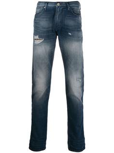 Emporio Armani джинсы с эффектом потертости