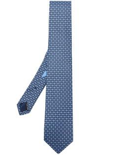 Salvatore Ferragamo галстук с принтом Gancio