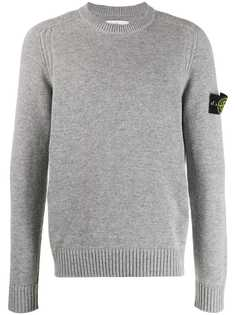Stone Island свитер узкого кроя с логотипом