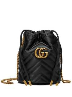 Gucci маленькая сумка-ведро GG Marmont