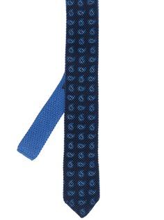 Ermenegildo Zegna галстук с вышитым узором пейсли