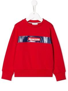 Moncler Kids свитер с круглым вырезом и логотипом