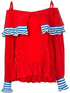 MSGM блузка с открытыми плечами