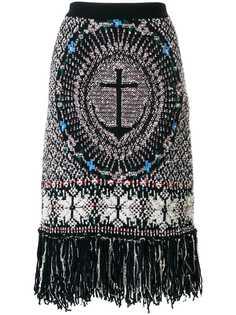Thom Browne юбка-карандаш с вышитым якорем