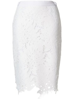 MSGM кружевная юбка с цветочным узором