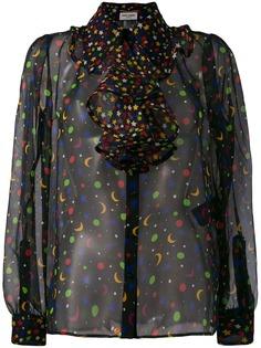 Saint Laurent полупрозрачная блузка Constellation