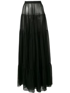 Saint Laurent прозрачная юбка макси