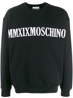Moschino толстовка с вышитым логотипом