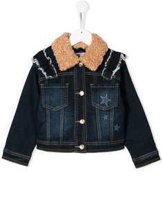 Monnalisa джинсовая куртка с пайетками