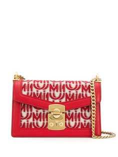 Miu Miu сумка из жаккарда с логотипом