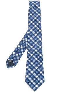 Tagliatore галстук с вышивкой в клетку