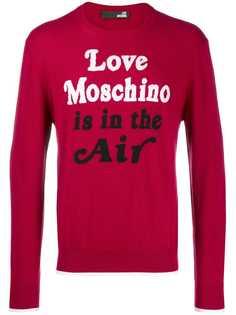 Love Moschino свитер с принтом