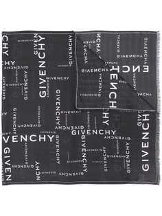 Givenchy шарф с вышитым логотипом