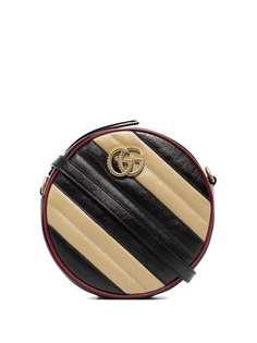 Gucci каркасная сумка Marmont в полоску