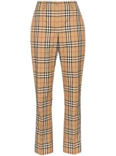 Burberry брюки Dana прямого кроя в клетку Vintage Check
