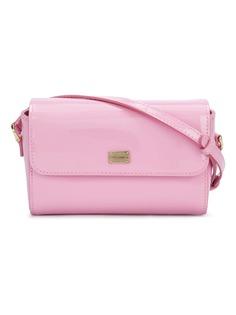 Dolce & Gabbana Kids лакированная сумка с логотипом
