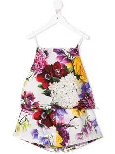 Dolce & Gabbana Kids шорты и топ с цветочным принтом