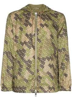 Burberry куртка с капюшоном и монограммой