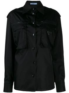 Prada куртка в стиле милитари с передними карманами