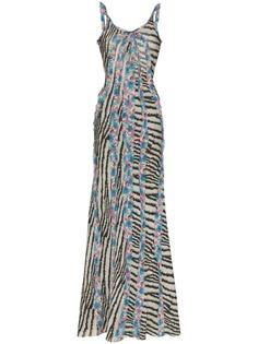 Etro платье макси без рукавов с оборками