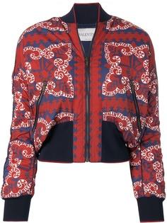 Valentino куртка-бомбер с принтом логотипа