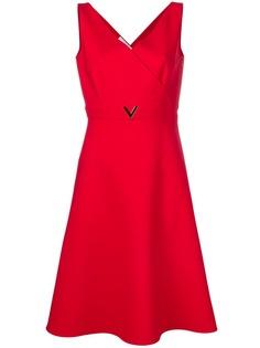 Valentino платье с V-образным декором