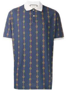 Gucci рубашка поло с принтом Horsebit Chain