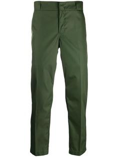 Prada укороченные брюки с логотипом