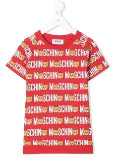 Moschino Kids футболка с принтом