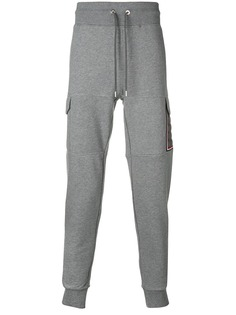 Moncler спортивные брюки с отделкой в полоску