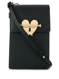 Prada маленькая сумка через плечо с застежкой в форме сердца