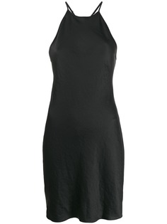 T By Alexander Wang короткое платье с вырезом халтер
